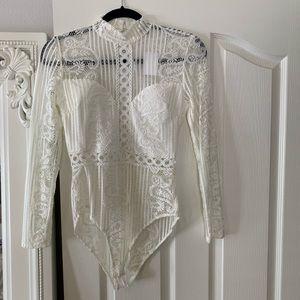 🆕White Lace Bodysuit